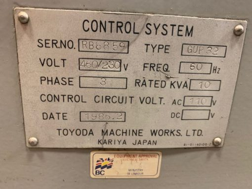 TOYODA GUP32 Cylindrical Grinders 2